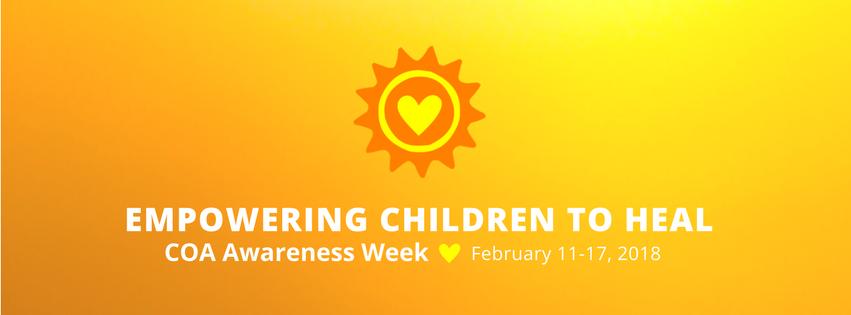 Children of Addiction Awareness Week sponsored by the National Association for Children of Addiction (NACoA)