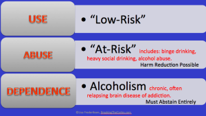 Lisa Frederiksen explains the three stages of substance misuse