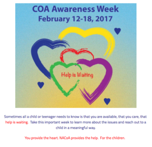 Children of Alcoholics Awareness Week | February 2017